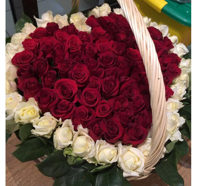 Букет «Сердце из 101 розы»<br />