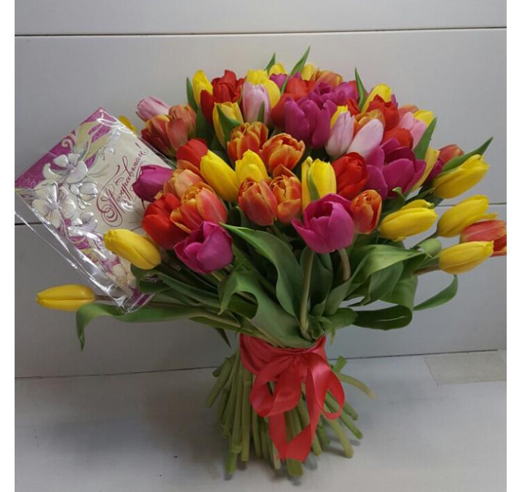 Букет «51 тюльпан»<br />